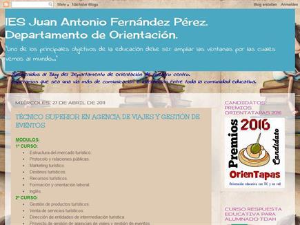 IES Juan Antonio Fernández. Departamento de Orientación