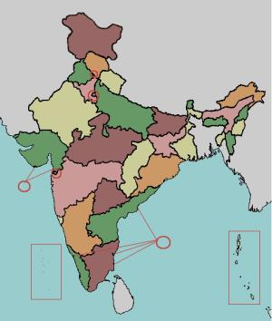 States and union territories of India. Lizard Point