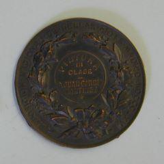 Medalla del premio de Pintura de III clase de la Exposición Nacional de Bellas Artes de 1866