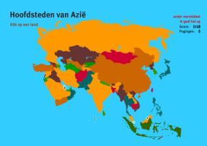 Hoofdsteden van Azië. Topo Wereld