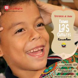 La calidad comienza en el contexto. Escuela Las Cumbres (Ecuador)