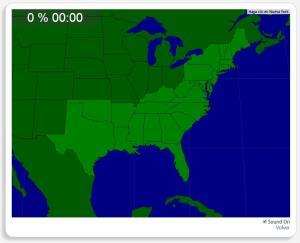 USA: Bundesstaaten im Süden und Nordosten. Seterra