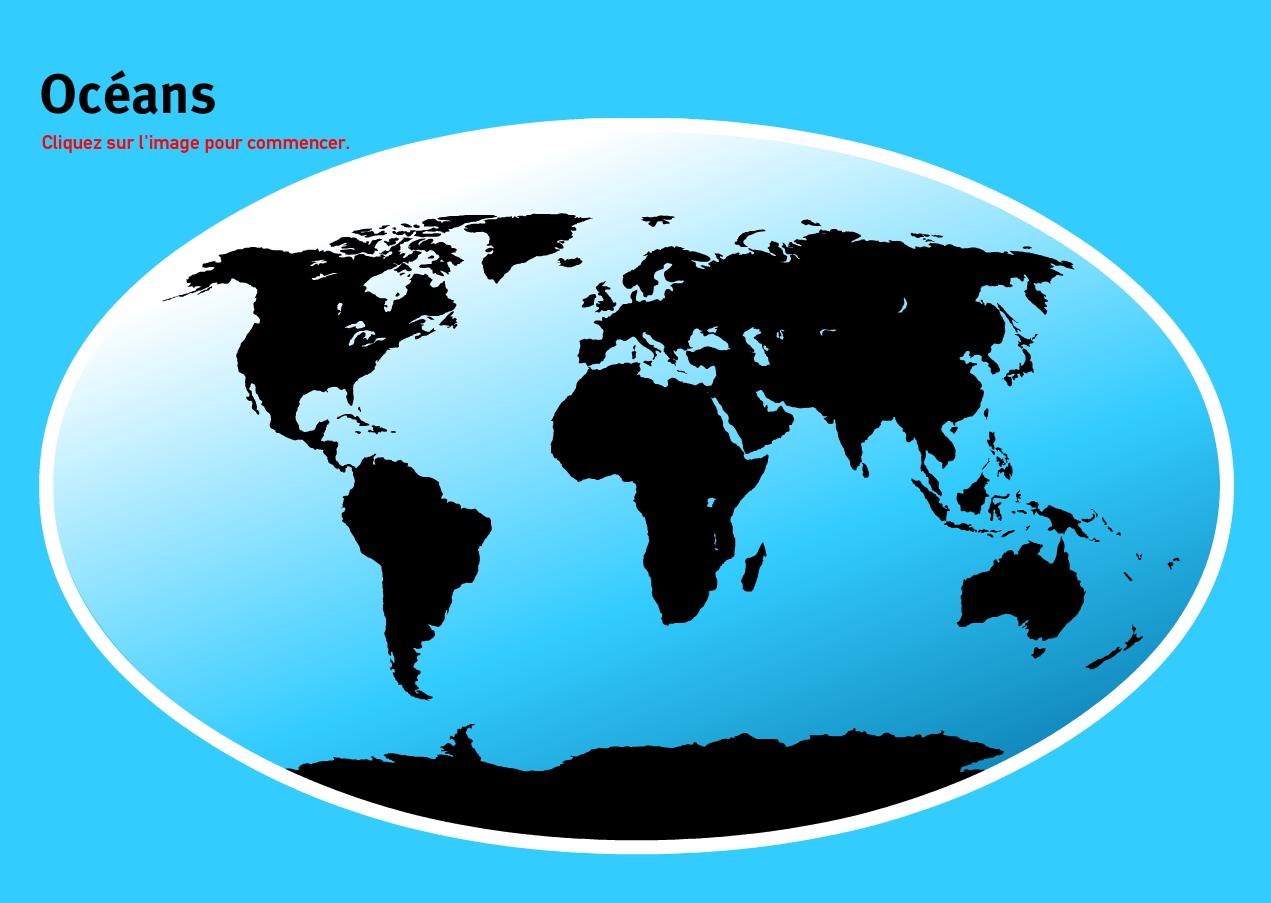 Océans du Monde. Jeux de Géographie