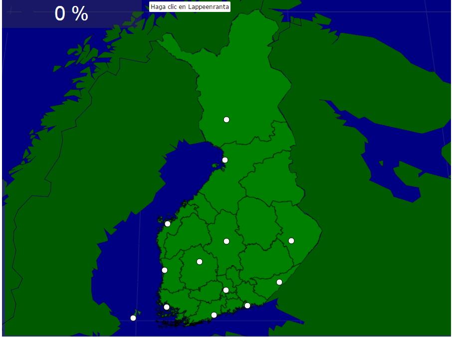Ciudades de Finlandia. Seterra