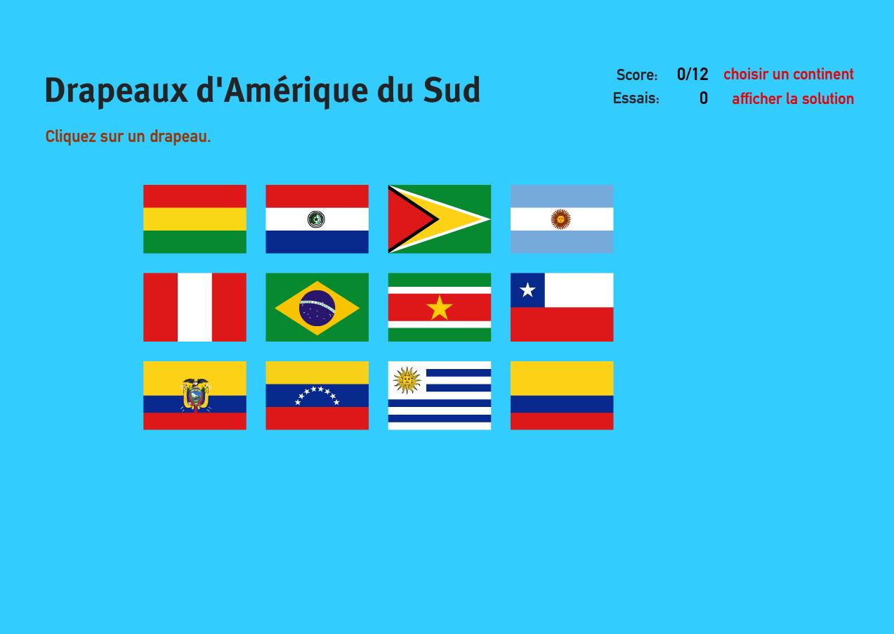 Carte Amerique Interactive.Carte Interactive D Amerique Du Sud Drapeaux D Amerique Du