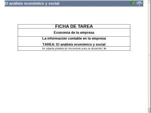 El análisis económico y social