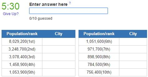 Biggest cities in Nigeria (JetPunk)