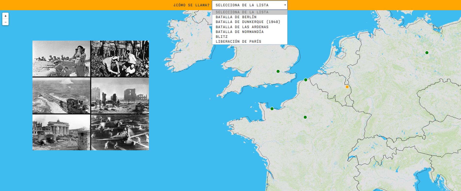 Europe in World War II: battles - Middle Level