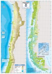 Mapa físico de Chile. IGM de Chile