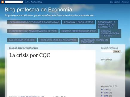 Blog de la profesora de Economía