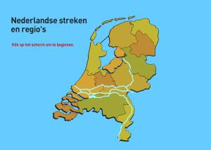 Regio's van Nederland. Topografie van Nederland