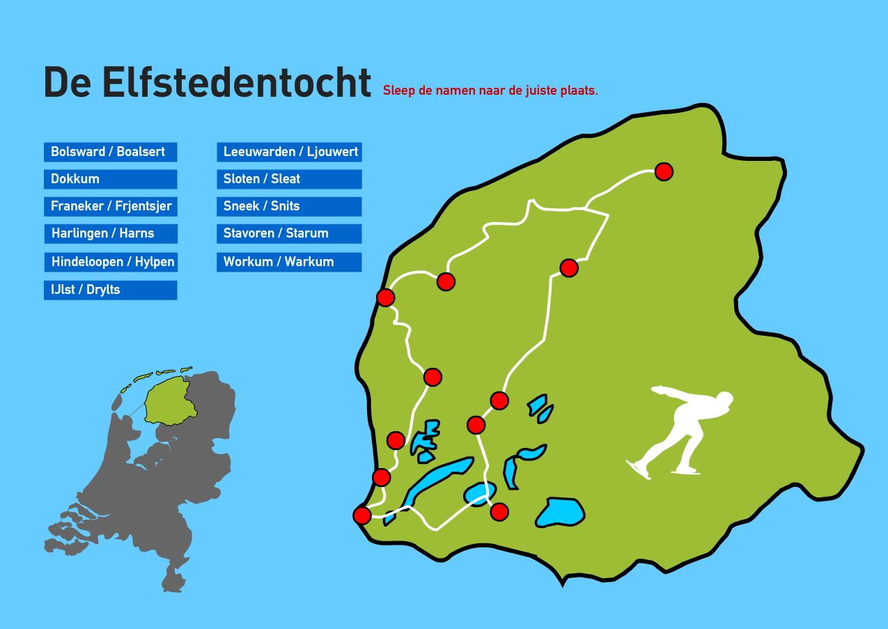 De Elfstedentocht. Topografie van Nederland