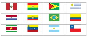 Flags of South America. Sporcle