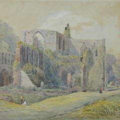 Templo gótico en ruinas
