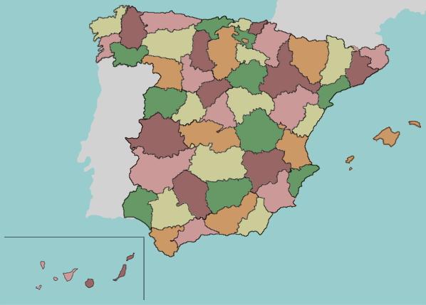 Provinces of Spain. Lizard Point