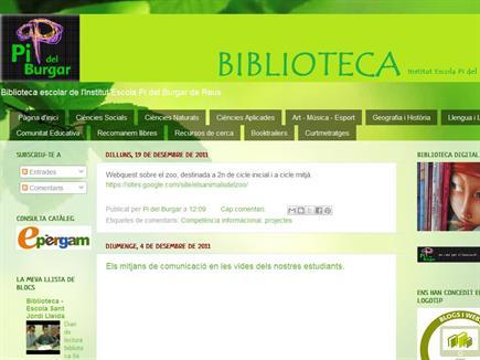 Biblioteca Institut Escola Pi del Burgar