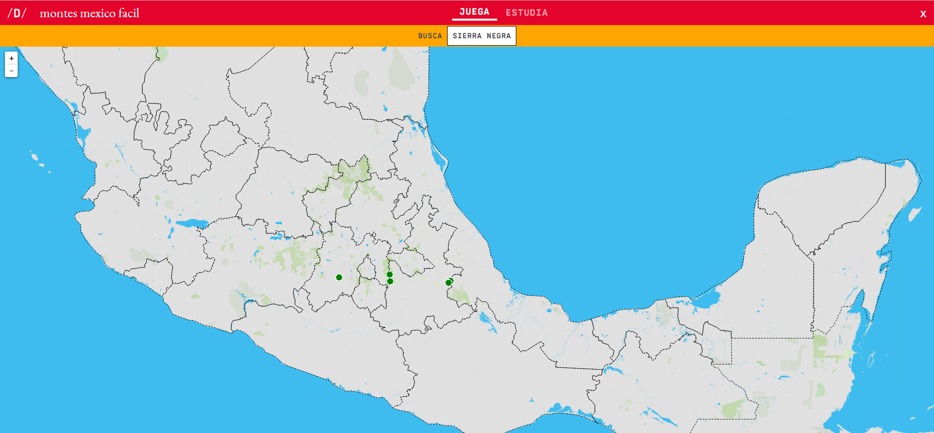 Interactive map. Where is it? Mountains of Mexico (easy ...