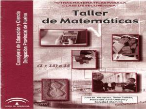 Taller de Matemáticas para secundaria