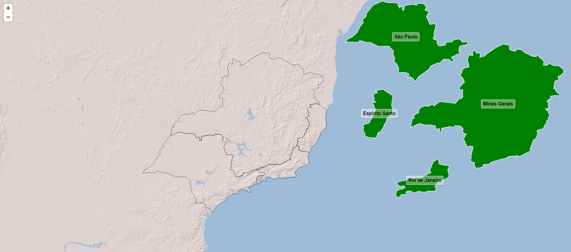 Estados da rexión sueste de Brasil