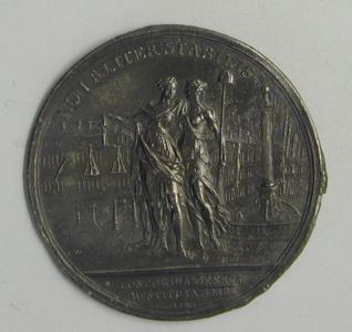 Prueba de reverso de la medalla conmemorativa de la Paz de Ginebra
