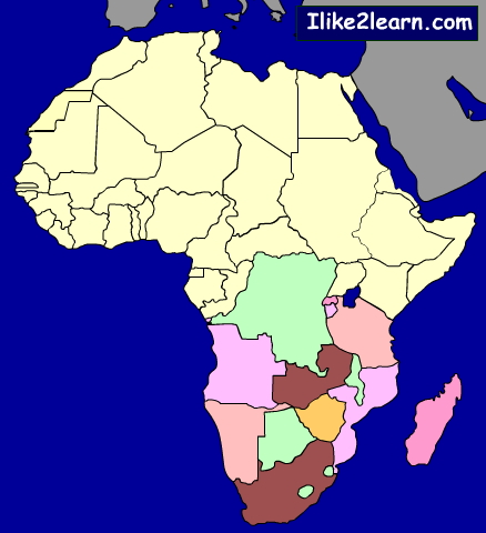 Countries of South Africa. Ilike2learn
