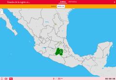 Stati della regione centro-sud del Mexico