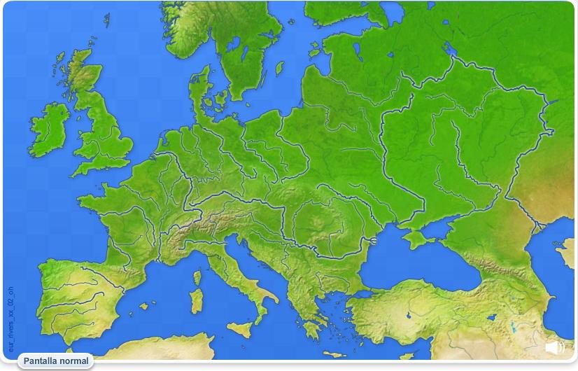 Ríos de Europa. Juegos geográficos