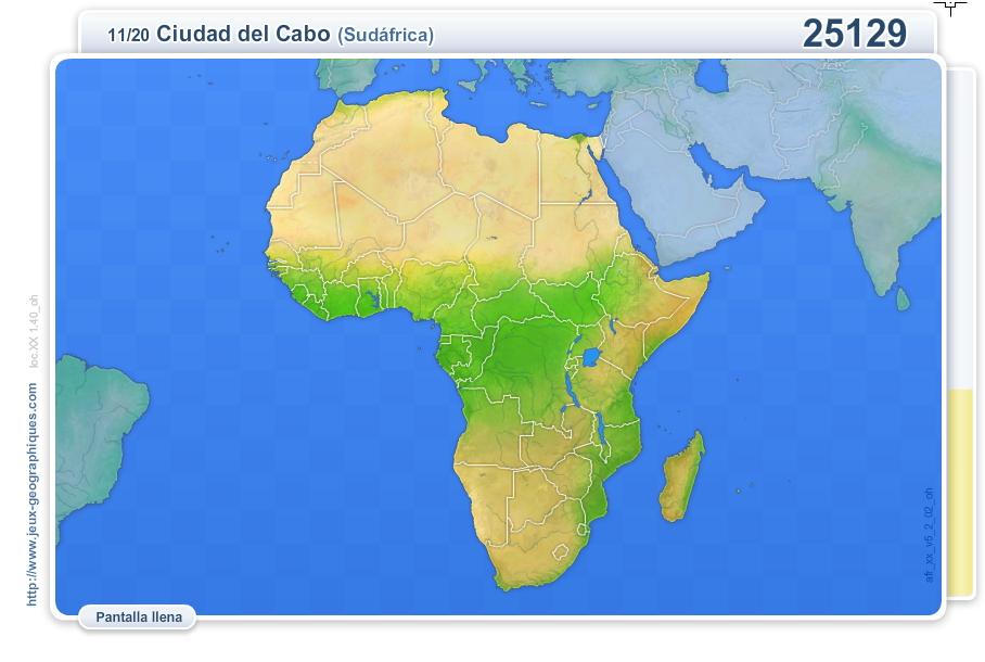 Ciudades de África. juegos geográficos