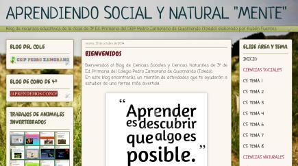 """APRENDIENDO SOCIAL Y NATURAL """"MENTE"""""""