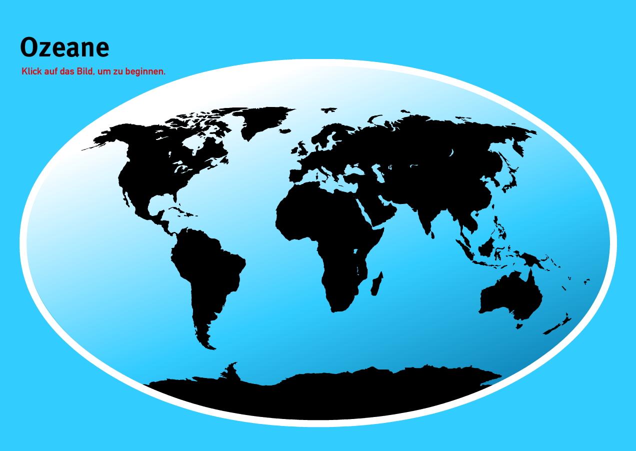 Ozeane der Welt. Welt-Quiz Geographie