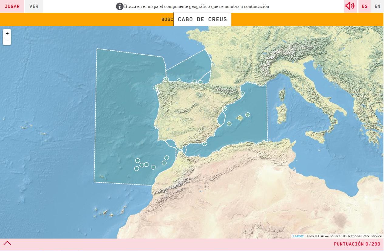 Cabos De España Mapa Interactivo.Mapa Para Jugar Donde Esta Costas De Espana Mapas