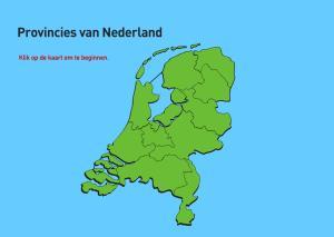 Provincies van Nederland. Topografie van Nederland