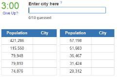 Biggest cities in Albania (JetPunk)