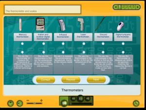 Thermometers and scales