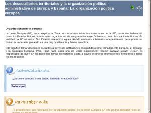 Los desequilibrios territoriales y la organización político-administrativa de Europa y España: La organización política europea