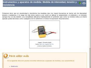 Instrumentos y aparatos de medida: Medida de intensidad, tensión y resistencia