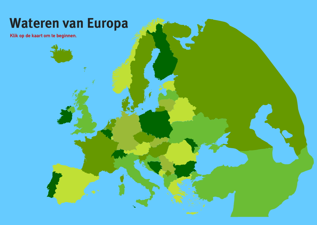 Wateren van Europa. Topo VMBO