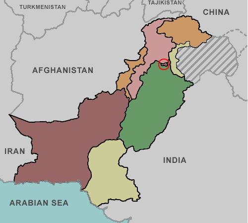 Provinces of Pakistan. Lizard Point