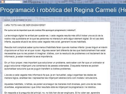 Programació i robòtica del Regina Carmeli (Horta)