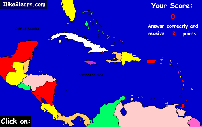 Countries of the Caribbean. Ilike2learn