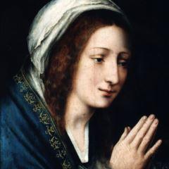 Virgen en oración