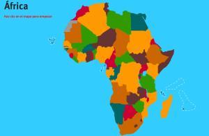 Países de África. Juegos de Geografía
