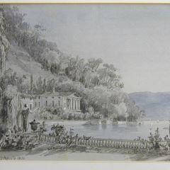 Vista de la villa Pasta, Lago de Como (Italia)