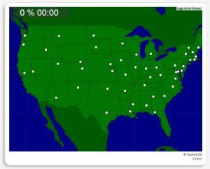 USA: Capitali degli Stati. Seterra