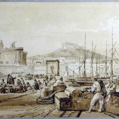 Vista del puerto de Nápoles (Italia)