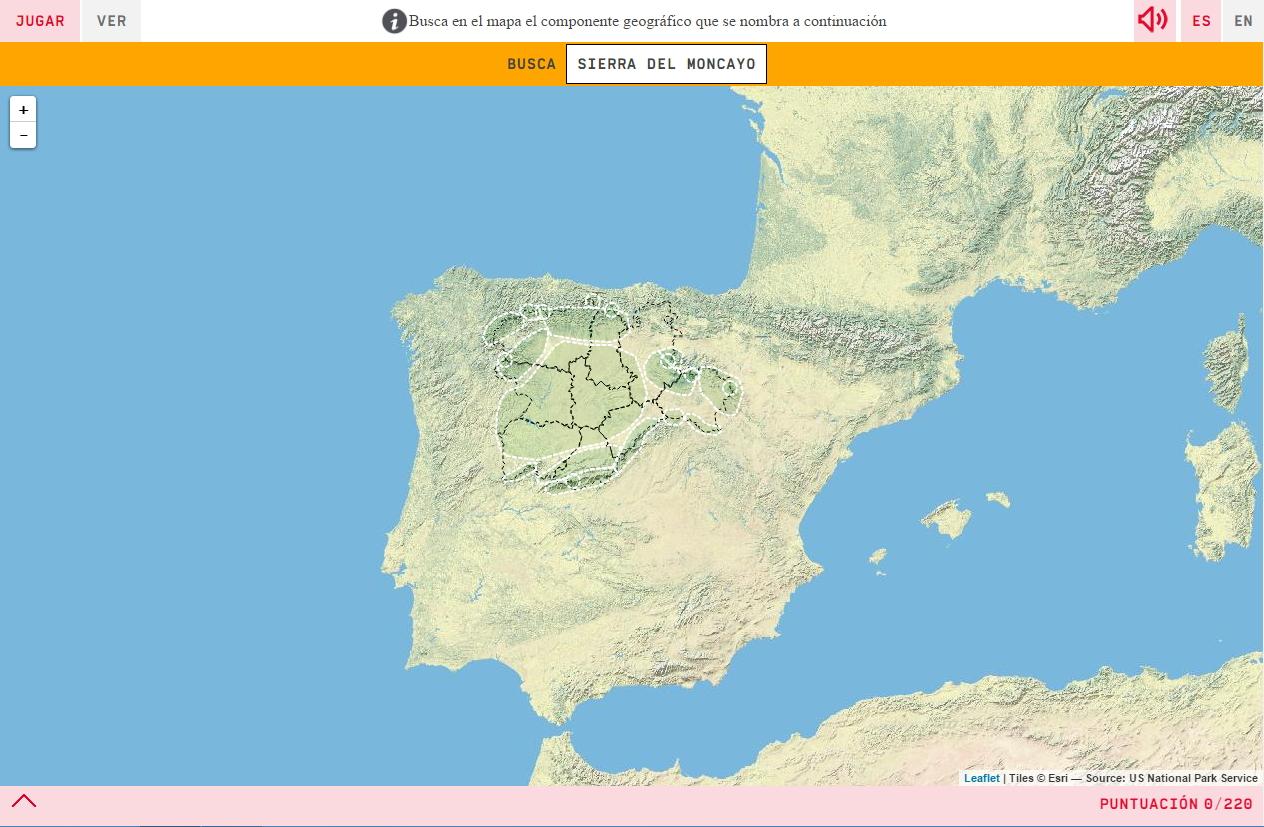 O relevo da Castela e Leão
