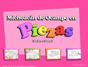 Municipios de Michoacán. Puzzle. INEGI de México