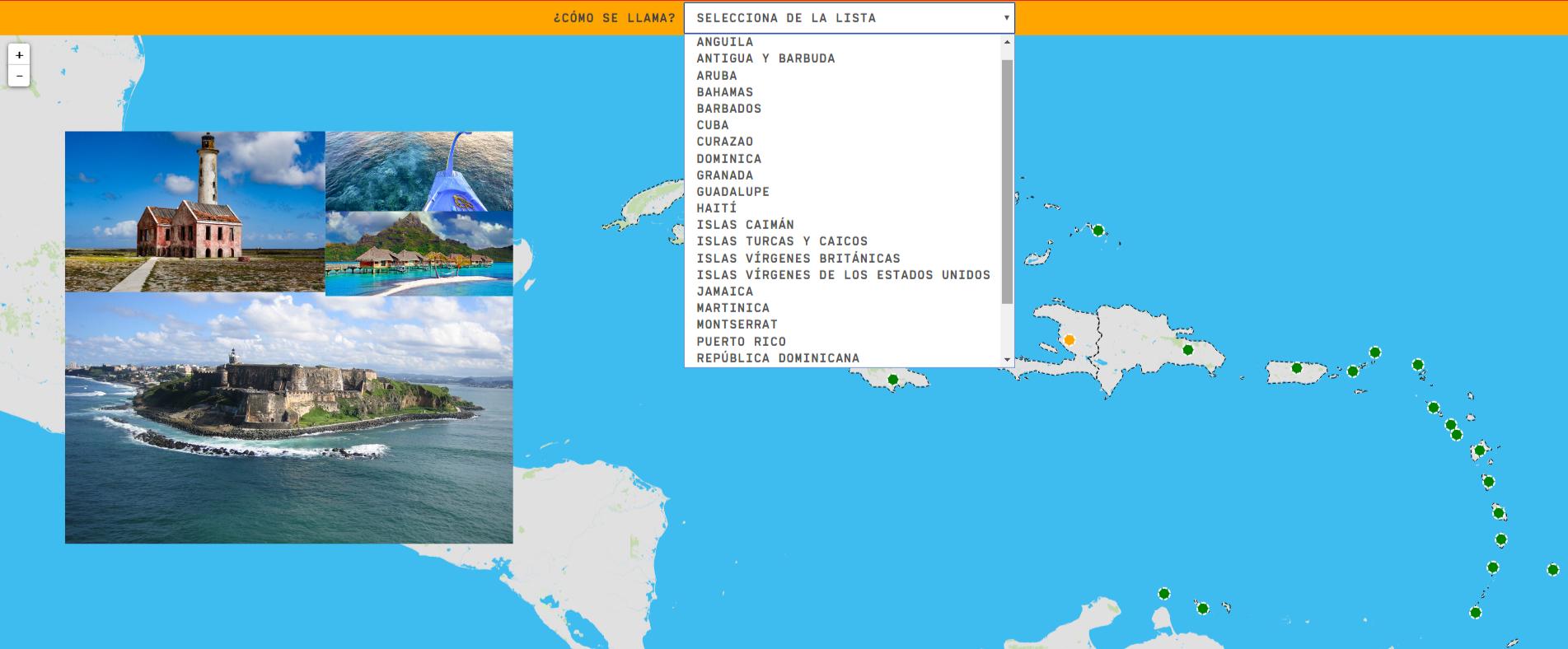 O Caribe: países e territórios