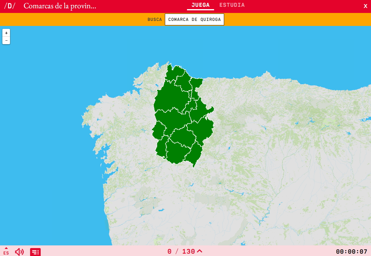 Interactive Map Where Is It Comarcas Of Lugo Mapas