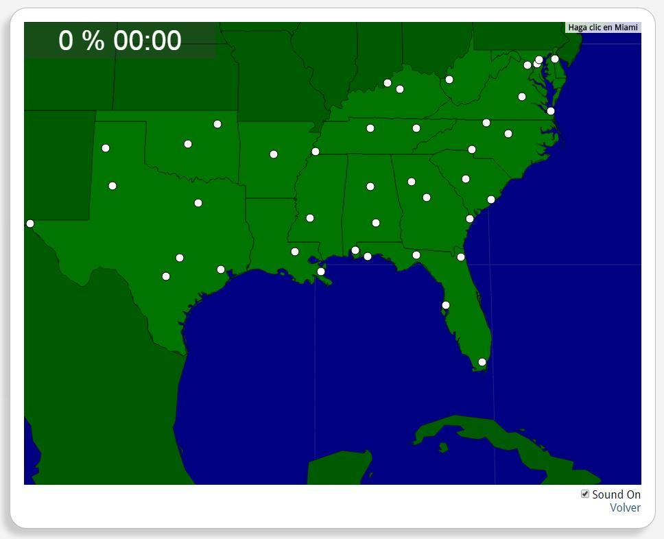USA: Städte im Süden. Seterra